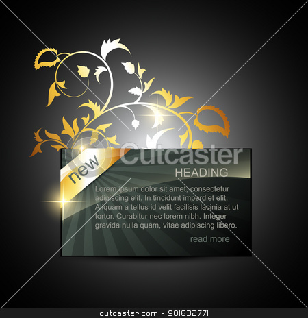 golden display box stock vector clipart, vector golden display box with space for your text by pinnacleanimates