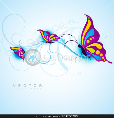 creative butterfly design stock vector clipart, creative butterfly style beautiful vector design by pinnacleanimates