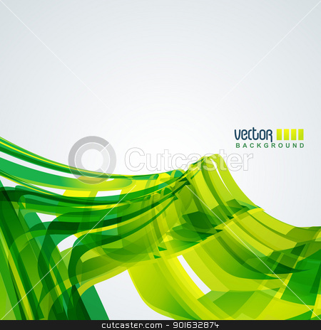 vector wave background stock vector clipart, vector wave background in green color by pinnacleanimates