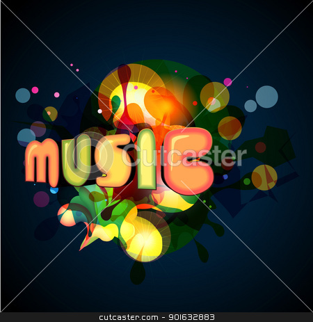 music background stock vector clipart, stylish music background. Eps10 vector by pinnacleanimates