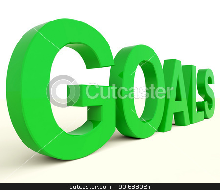 Goals Word Showing Objectives Hope And Future stock photo, Goals Letters Showing Objectives Hope And Future by stuartmiles
