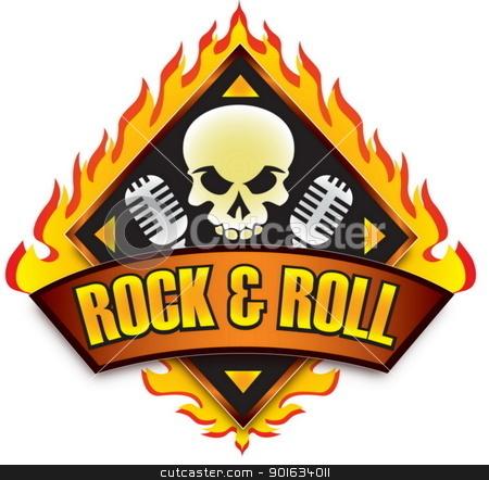 rock n roll logo 5 stock vector rh cutcaster com rock and roll band logos rock n roll logo .png