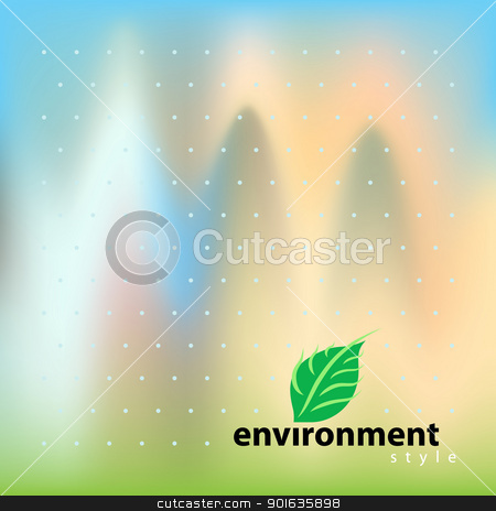 Vector environment bio style stock photo, Vector template for design environment style by Imaster
