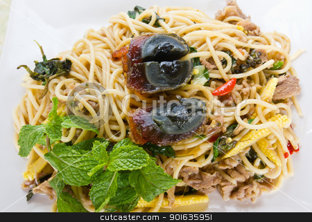 Thai spicy food noodle stock photo, Image of Thai spicy food noodle by stoonn