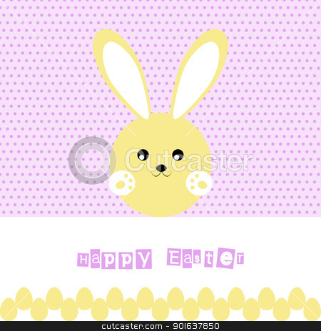 Happy Easter stock vector clipart, Beautiful background of happy easter by Ingvar Bjork