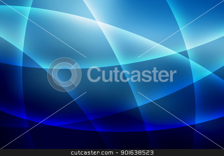 Soft Blue Lines Background stock photo, Abstract Soft Curvy Shaped Blue Lines Background by Snap2Art