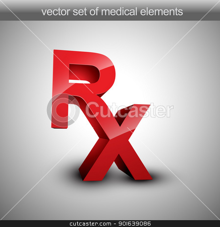 Rx vector stock vector clipart, Rx vector 3d illustration by pinnacleanimates