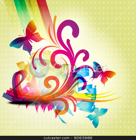 abstract background stock vector clipart, abstract butterfly background design illustration by pinnacleanimates