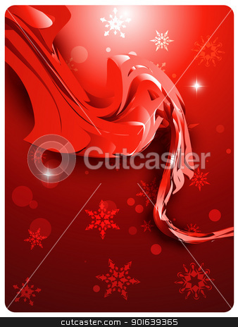 abstract wave stock vector clipart, abstract stylish wave background with red theme by pinnacleanimates