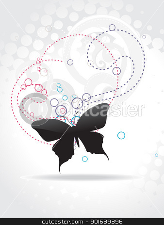 Beautiful butterfly vector art stock vector clipart, Beautiful butterfly vector art by pinnacleanimates