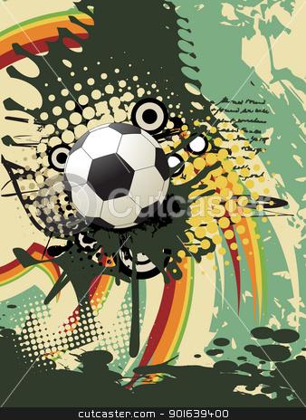 Football vector art stock vector clipart, football vector artistic design by pinnacleanimates