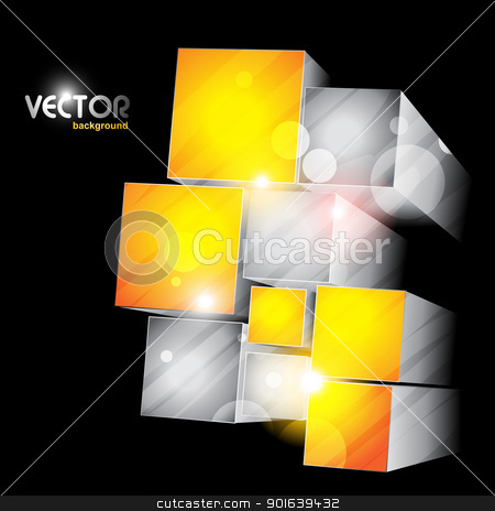 cube shapes stock vector clipart, cubes vector stylish abstract artwork by pinnacleanimates