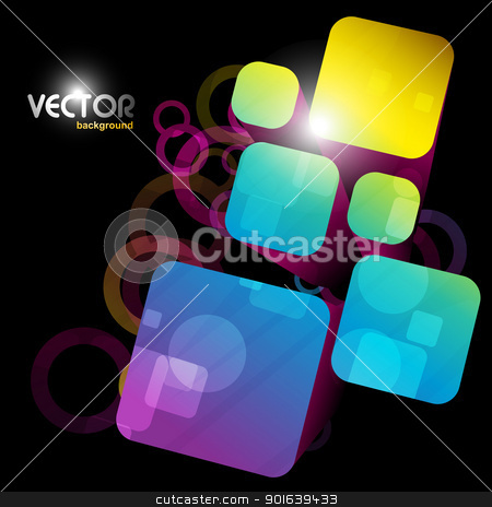 abstract square shape stock vector clipart, square shapes eps10 vector design artwork by pinnacleanimates