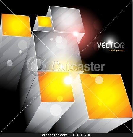 cubes shapes design stock vector clipart, 3d cubes emerging. eps10 vector file by pinnacleanimates