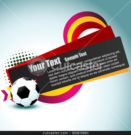 football vector artistic design stock vector clipart, vector football colorful artistic design by pinnacleanimates