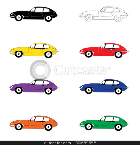 Eight cars of color of a rainbow stock photo, Eight cars of color of a rainbow by Uliana Gureeva