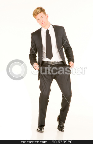 businessman with empty pockets stock photo, businessman with empty pockets by ambrophoto