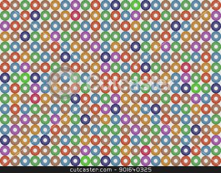 Donuts pattern stock vector clipart, Seamless tile pattern with color donuts by Richard Laschon