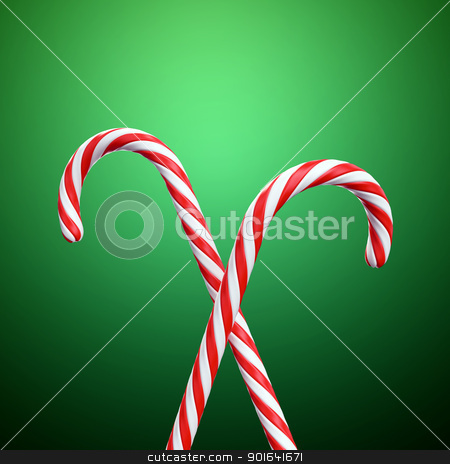 Christmas candy cane stock photo, Christmas candy cane background by Mopic