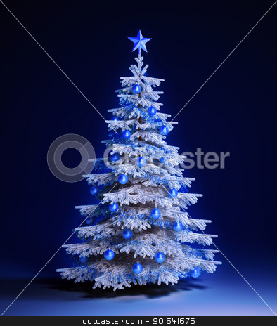 White christmas tree stock photo, White christmas tree background by Mopic