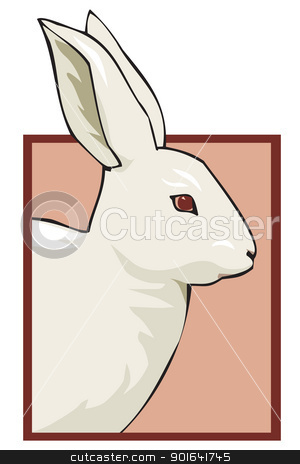rabbit for shop stock vector clipart, rabbit for shop by Uliana Gureeva