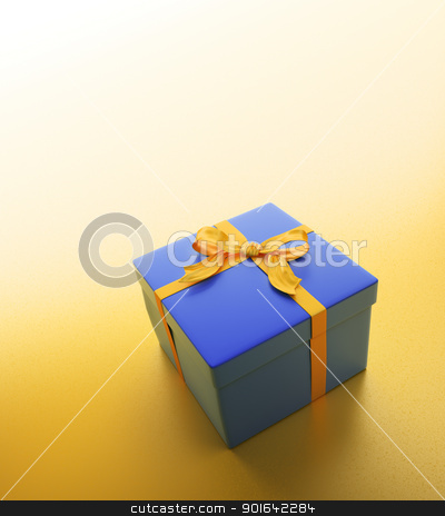 Blue gift stock photo, Blue gift - christmas celebration image by Mopic