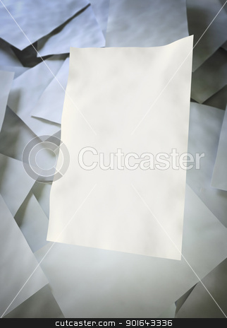 Empty sheets of paper stock photo, Empty sheets of paper by Mopic