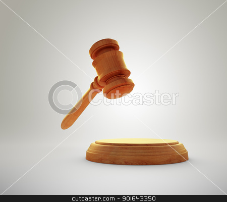 Gavel stock photo, Gavel - auction bidding or justice concept image by Mopic