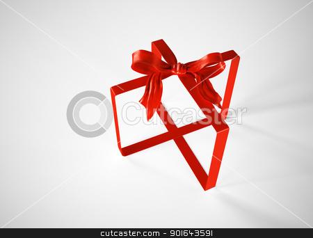 Gift ribbon abstract stock photo, Gift ribbon abstract by Mopic