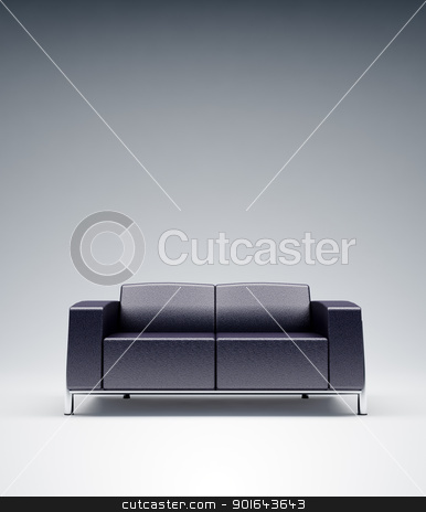 Empty leather sofa stock photo, Empty leather sofa by Mopic