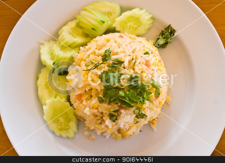 Thai food fried rice  stock photo, Close-up Thai food fried rice by stoonn
