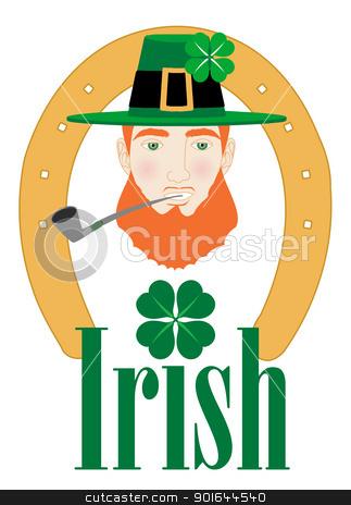 St. Patricks Irish Design stock vector clipart, Vector Illustration for St. Patricks Irish Design with Leprechaun. by Basheera Hassanali