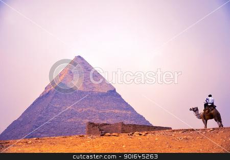 Pyramid Giza in Cairo Egypt stock photo, Landmark of the historic Pyramid Giza in Cairo Egypt by John Young