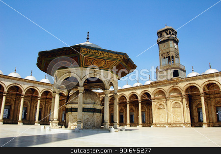 Mosque in Damascus stock photo, Scenery of the famous Omayyad Mosque in Damascus,Syria. by John Young
