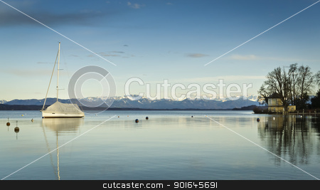 Tutzing stock photo, An image of the Starnberg Lake in Bavaria Germany - Tutzing by Markus Gann