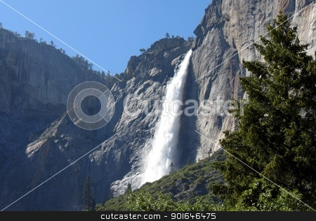Yosemite Upper Falls stock photo, Yosmiete falls one of the most famouse place in California. by Henrik Lehnerer
