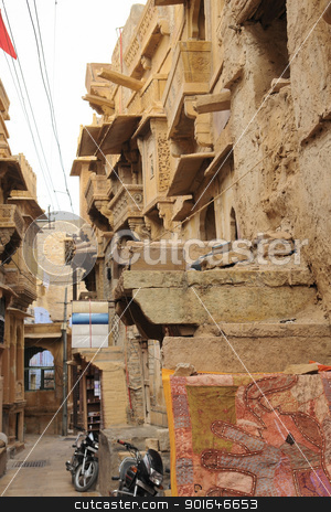 city view of Jaisalmer stock photo, city view of Jaisalmer, a town in India by prill