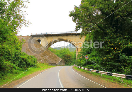 Landscape with bridge and road stock photo, Image of landscape with bridge and road by Julialine