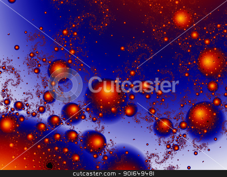 Mastering Madness - Blue stock photo, 3d rendered Illustration. High res fractal pattern.  by Michael Osterrieder