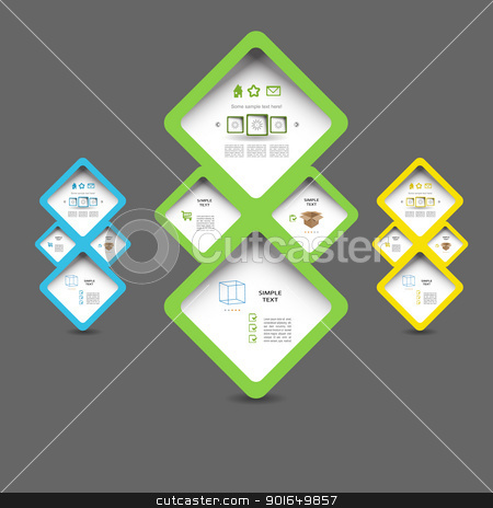 Blog set stock vector clipart, Modern vector blog set by naturartist