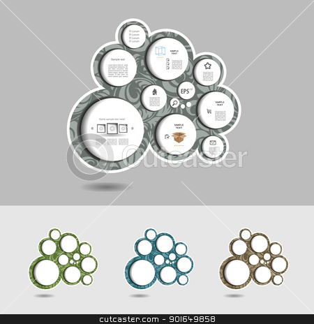 Modern blog with pattern stock vector clipart, Modern editable vector blog  by naturartist