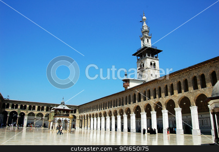 Mosque in Damascus stock photo, Landmark of the famous Omayyad Mosque in Damascus,Syria. by John Young