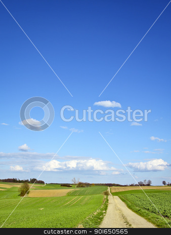 blue sky stock photo, An image of a fresh landscape under a deep blue sky by Markus Gann