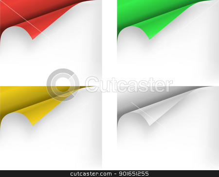 Paper corners stock vector clipart, Collection of paper corners. Vector illustration. by vtorous