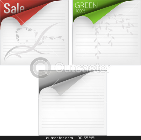 1645 corners stock vector clipart, Vector labels with corners by vtorous
