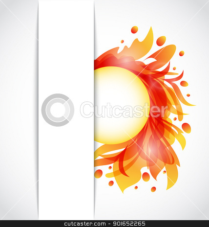 Colorful floral transparent background stock vector clipart, Illustration colorful floral transparent background - vector by -=Mad Dog=-