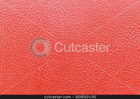 Red leather  stock photo, Red leather book cover texture background by stoonn
