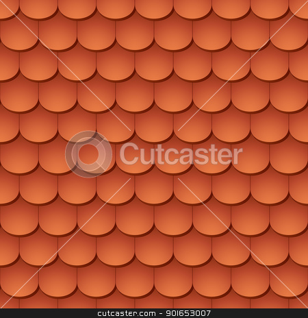 Seamless terracota roof tile - pattern for continuous replicate. stock vector clipart, Seamless terracota roof tile - pattern for continuous replicate. by Oleksiy Fedorov