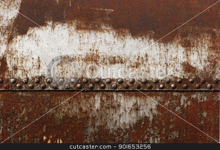 Old railway cistern riveted joint stock photo, Old rusty railway cistern riveted joint as background by Aleksandar Varbenov