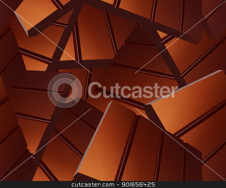 Delicious Sparse chocolate bars background  stock photo, Delicious Sparse chocolate bars background  by Designsstock